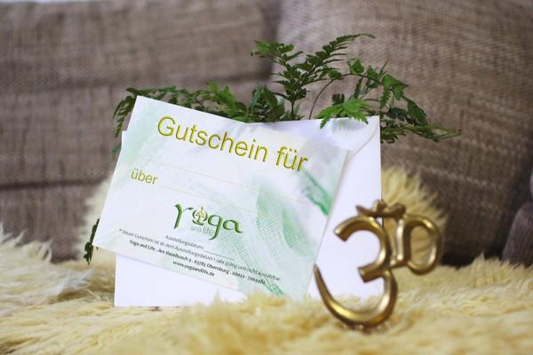 Gutschein für eine Yoga 10er-Karte